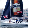 Boat with Coors sail